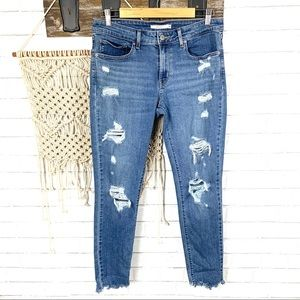 Levi's 511 skinny distressed denim size 30